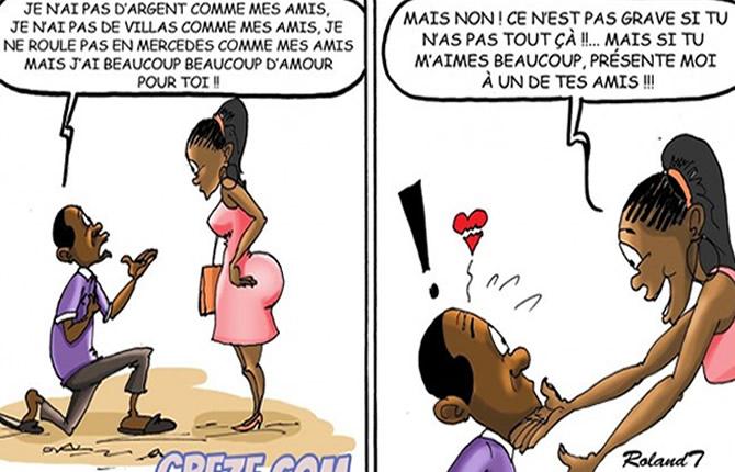 cameroun humour elle ne mange pas l 39 amour crtv info actu tv multim dia school. Black Bedroom Furniture Sets. Home Design Ideas