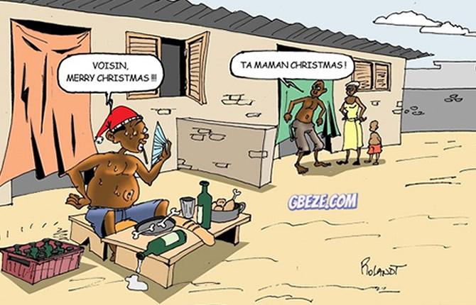 Humour Image Noel.Cameroun Humour Noel Sans Partage Un Voisin Radin