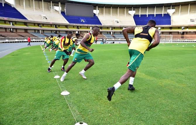 Cameroun lions indomptables la premi re s ance d entrainement des lions au kenya crtv - Info entrainement coup sur du jour ...